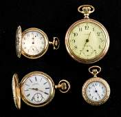 Four Estate Pocket Watches Gold Filled