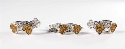 Ladies 14K Diamond Necklace  earrings