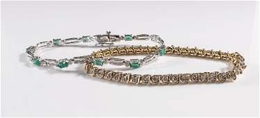 Two Ladies 14k Tennis Bracelets