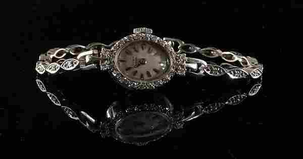Ladies 14K Diamond Wrist Watch