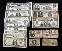 Us Currency: Mixed Estate Lot