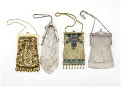 4 Ladies Vintage Mesh Purses