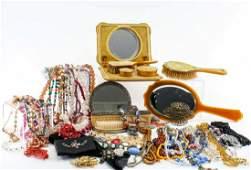 Ladies Vintage Jewelry and Dresser items