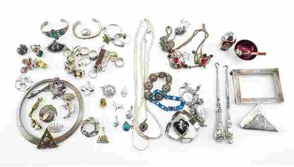 Mixed Sterling Silver Jewelry and Smalls
