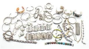 Large group of ladies bracelets