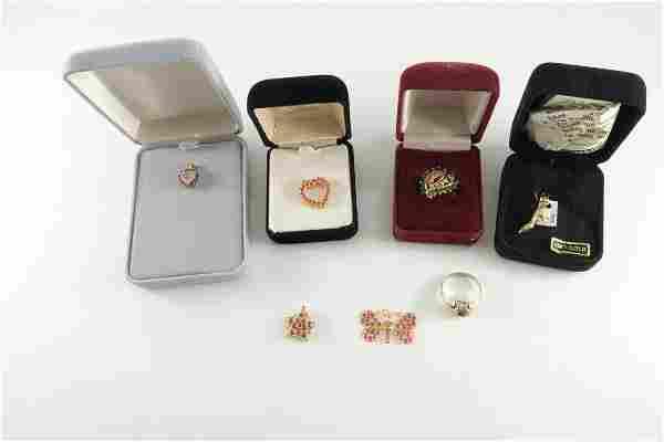 7 Pcs Estate Gold & Gemstone Jewelry