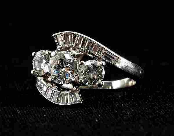 Ladies Platinum and Multi Diamond Ring