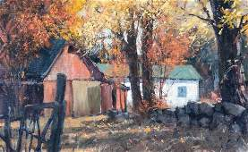 Paul Landry (B. 1933) Landscape with Barn