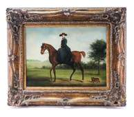 Paul English, Oil on Canvas Horse and Rider