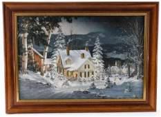 Fred Swan Giclee Winter Landscape