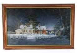 Fred Swan Giclee Winter Landscape Scene