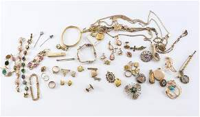 Estate Gold Filled and Gold Tone Jewelry Group