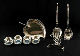 8 Sterling Silver Table Items