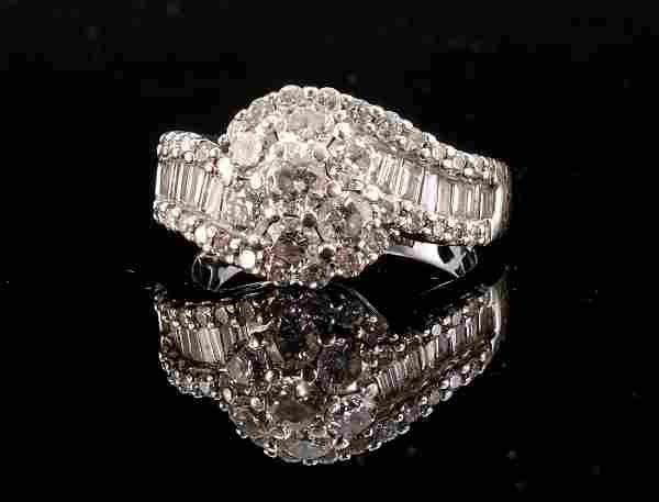 Fantastic Ladies 14K WG Multi Diamond Ring