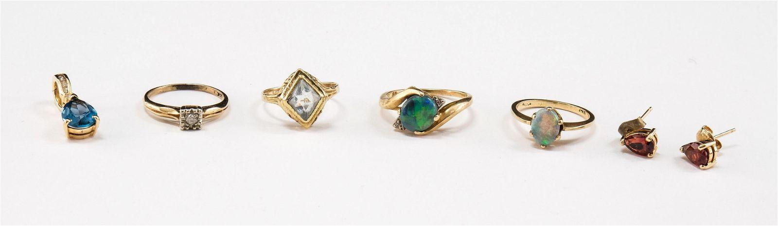 Ladies 14K Estate Jewelry Group