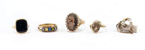 Estate 10K Gold and Gemstone Jewelry