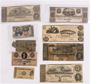 Large Group of 19th Century American Currency
