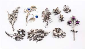 Sterling Silver Fashion Jewelry, pins