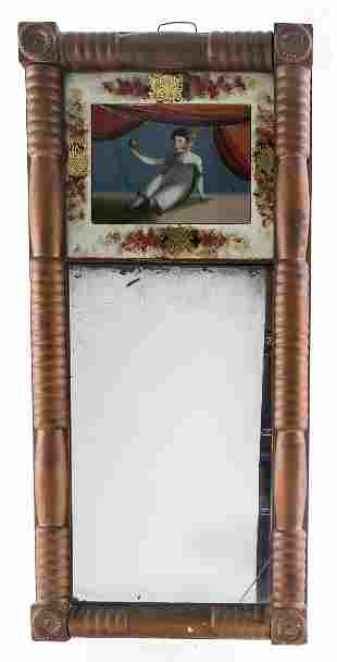 Antique American Two-Part Mirror