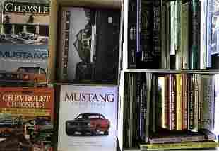 Three boxes of auto marque subject books