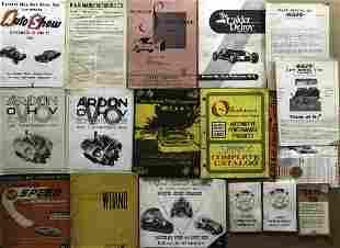 Original 1930's-1960's speed parts catalogs