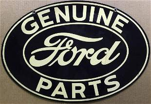Genuine Ford Parts painted oval sign