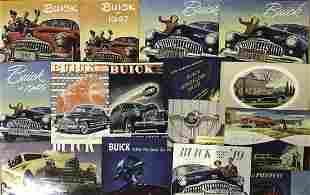 1940's Buick, Pontiac, Oldsmobile brochures