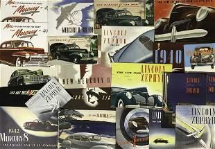 Lincoln, Lincoln Zephyr, Mercury brochures