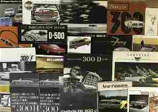 1950's-80's US muscle and performance brochures