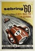 1960 Sebring 12 Hour original event poster