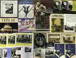 Ford Model T to 1934 V 8 brochures