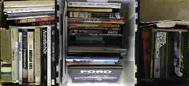 Three boxes of auto related books