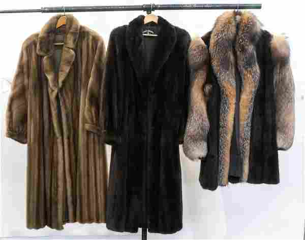 3 Ladies Fur Coats