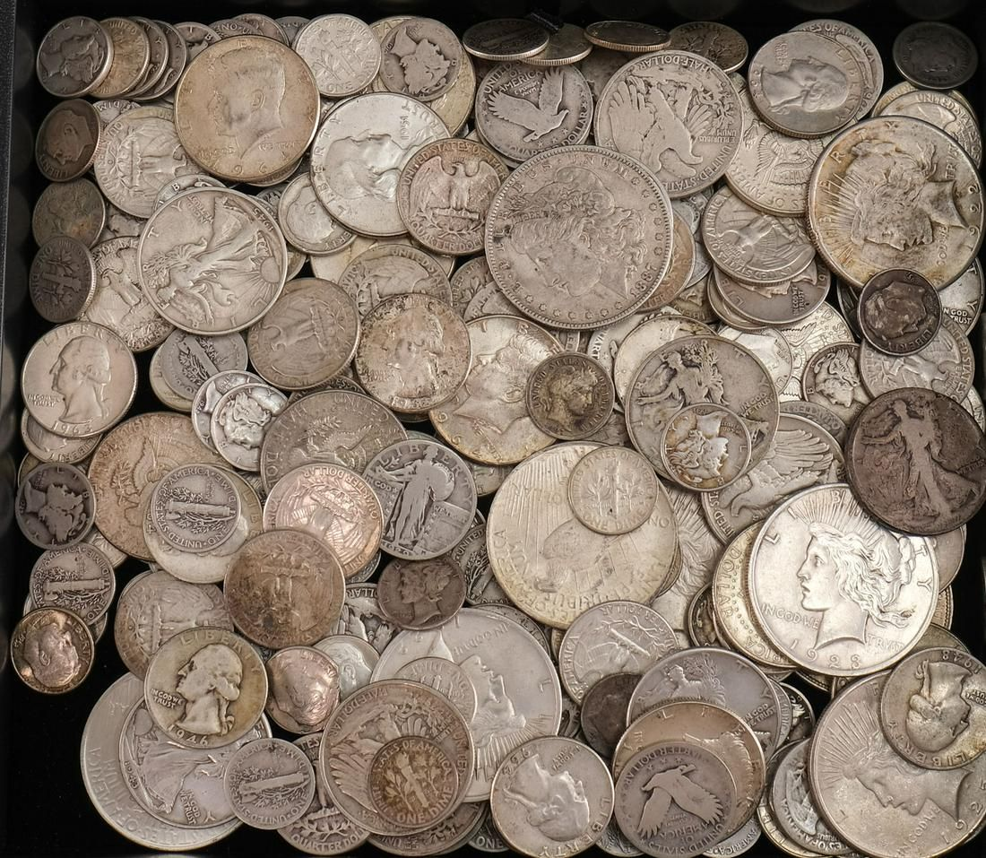 $50 Face Value 90% Silver United States Coins