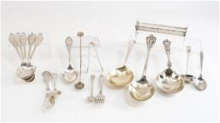 Mixed Sterling Silver Flatware: Serving Pieces