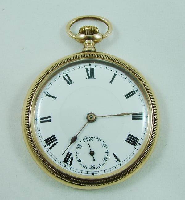 3: 9K yellow gold Men's pocket watch