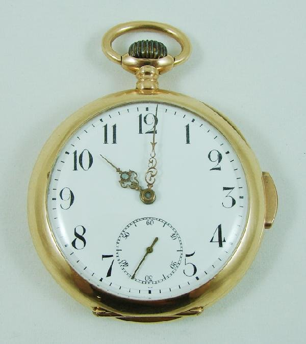 23: 14K gold repeater pocket watch