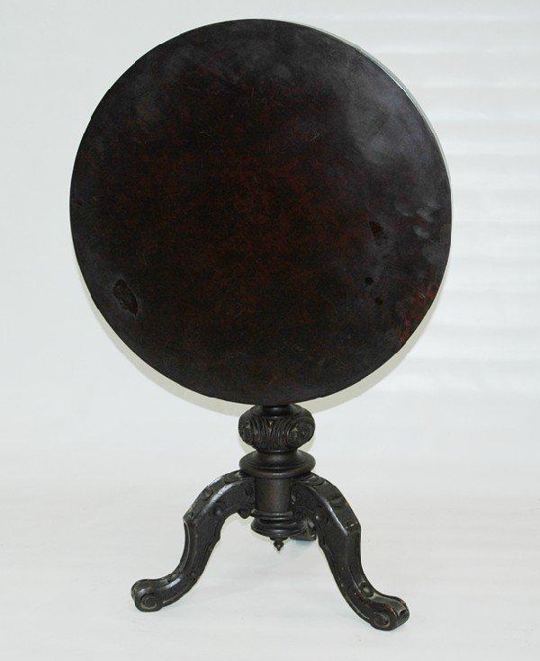 24: Carved burl Walnut Tilt-top Table