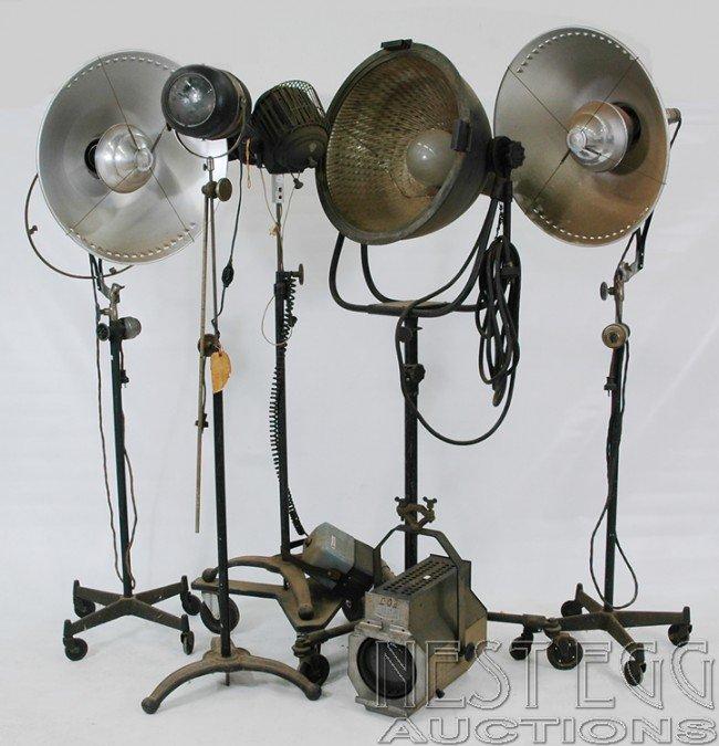 303: Group of vintage photography studio lighting