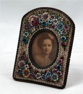 Continental Miniature Micro Mosaic Portrait Frame
