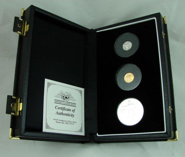 8: 1999 US mint set: Silver, Gold & Platinum
