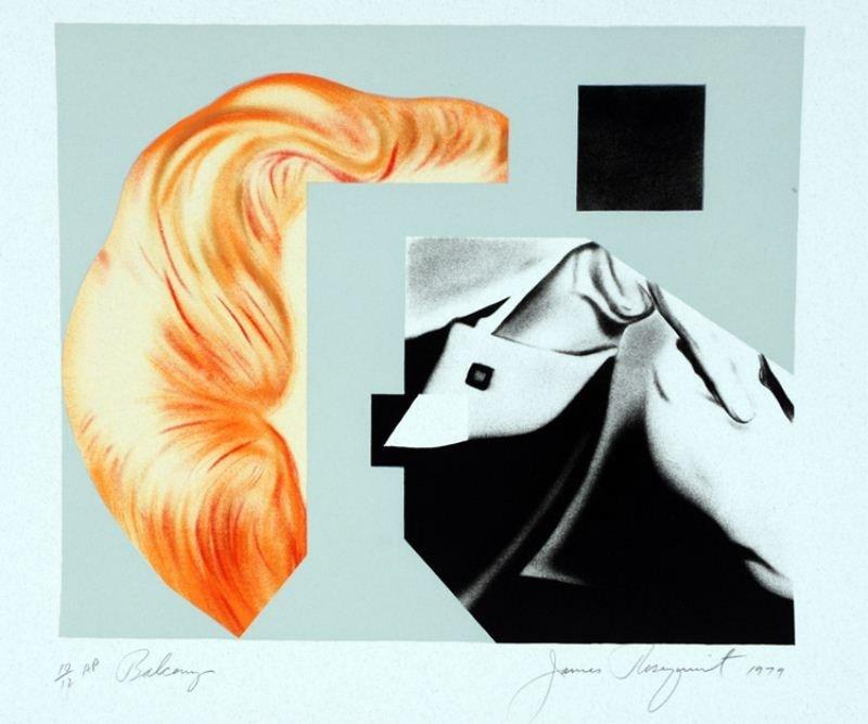 "5: James Rosenquist Lithograph: ""Balcony"""