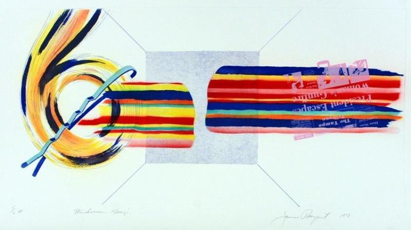 """10: James Rosenquist Lithograph: """"Windscreen Horizon"""""""