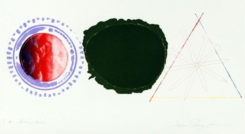 "11: James Rosenquist Lithograph: ""Swing Screen"""