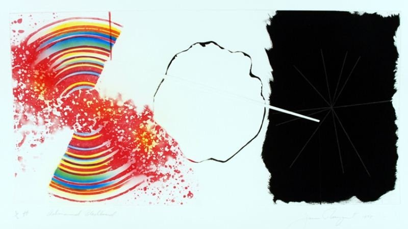 "13: James Rosenquist: ""Astronomical Blackboard"""