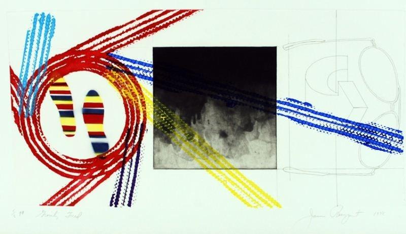 "16: James Rosenquist Lithograph: ""Gravity Field"""