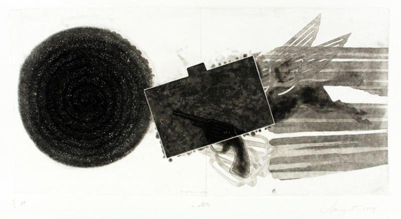 "18: James Rosenquist Lithograph: ""Divers Line"""