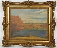 73 Oil on Canvas Fall Landscape Signed John Walker