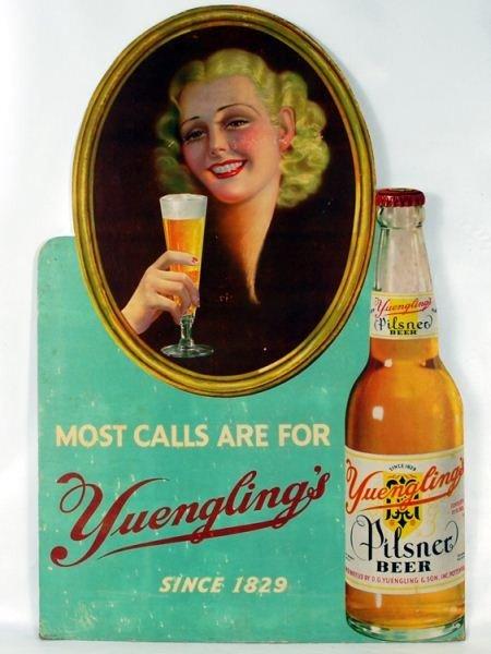 107: Yuengling Brewery Beer Advertising die cut display