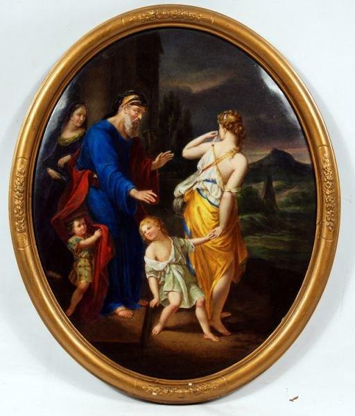 108: Royal Vienna / Germany Berlin Porcelain plaque